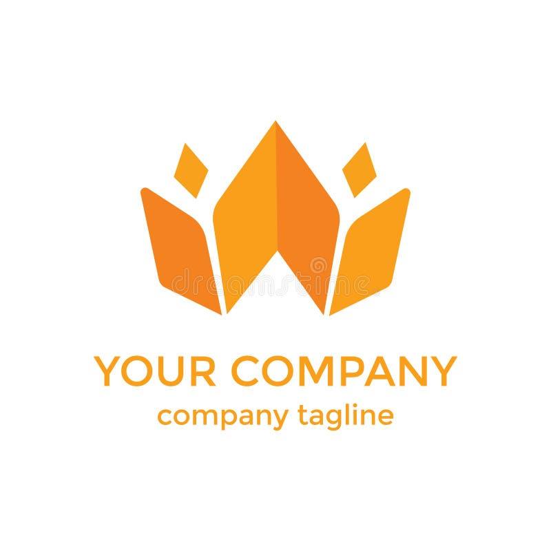 Libro che pubblica logo moderno immagine stock libera da diritti