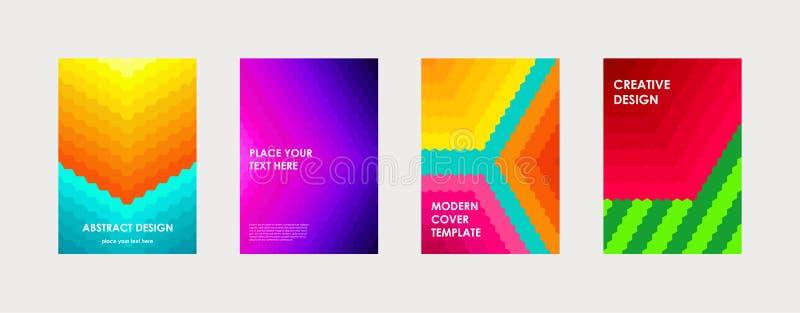 Libro colorido o plantilla corporativa del diseño de la cubierta del folleto stock de ilustración