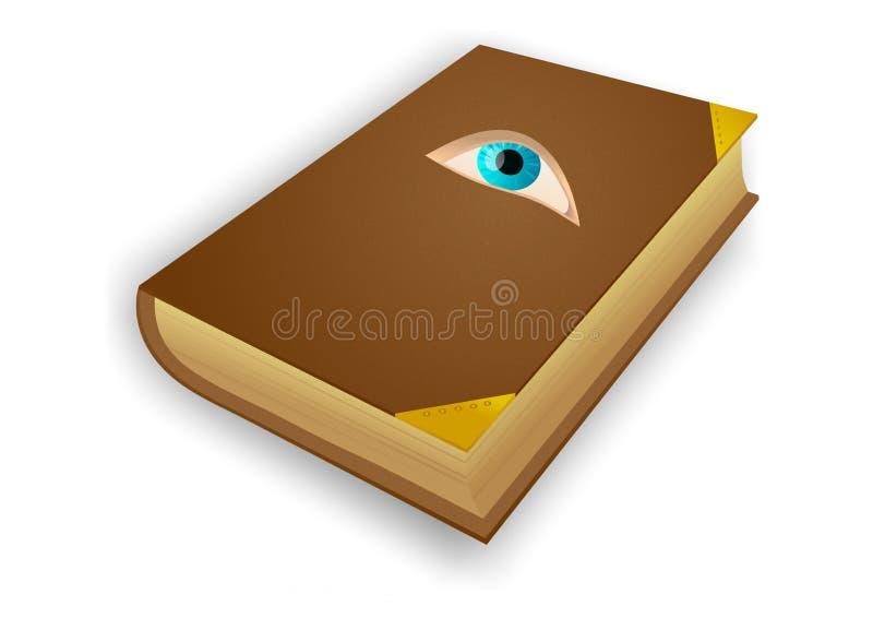 Libro con el ojo libre illustration