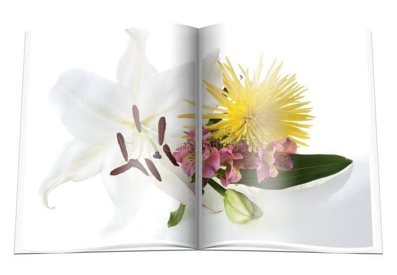 Libro con el ramo de flores libre illustration