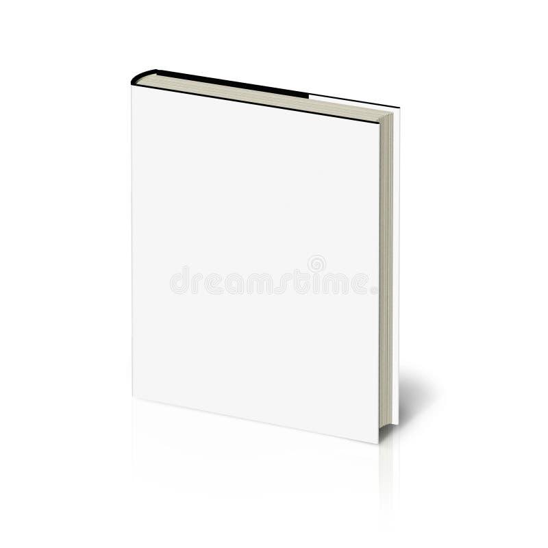 libro con il coperchio bianco su priorità bassa bianca. illustrazione vettoriale