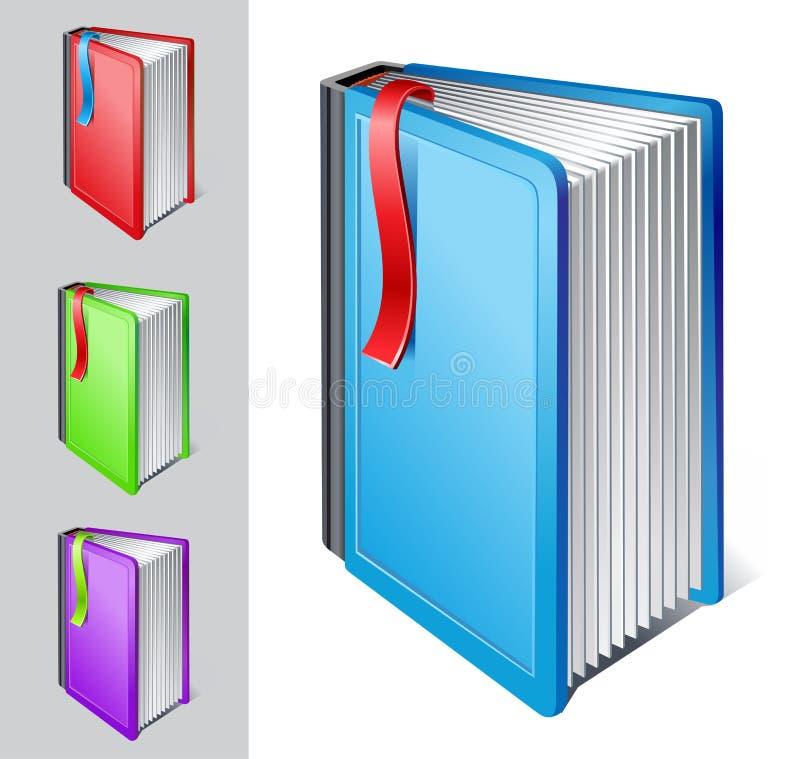 Libro con il segnalibro illustrazione di stock