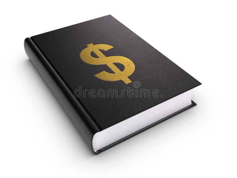 Libro con il segno del dollaro illustrazione vettoriale