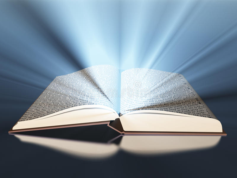 Libro con indicatore luminoso royalty illustrazione gratis