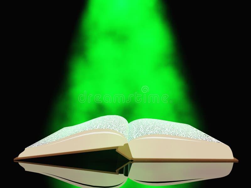 Libro con indicatore luminoso illustrazione di stock
