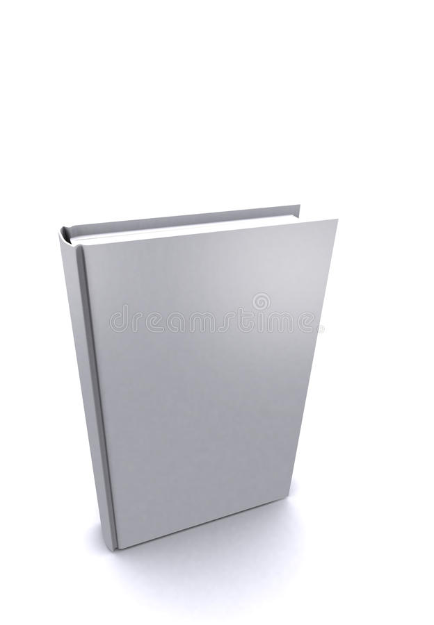 Libro con la copertura bianca in bianco fotografia stock