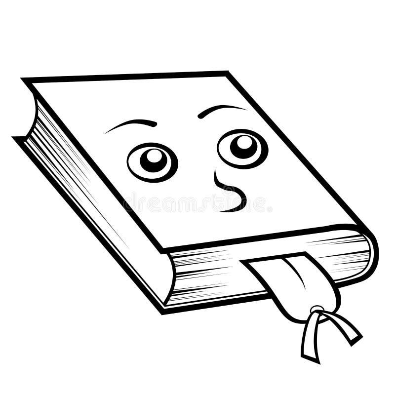 Libro con la dirección de la Internet stock de ilustración