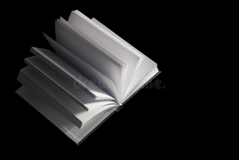 Libro con le pagine in bianco immagini stock