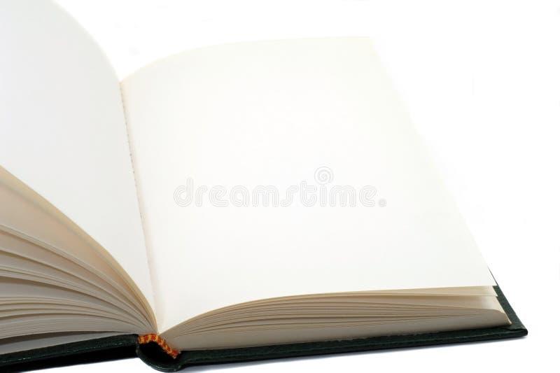Libro con le pagine in bianco fotografia stock