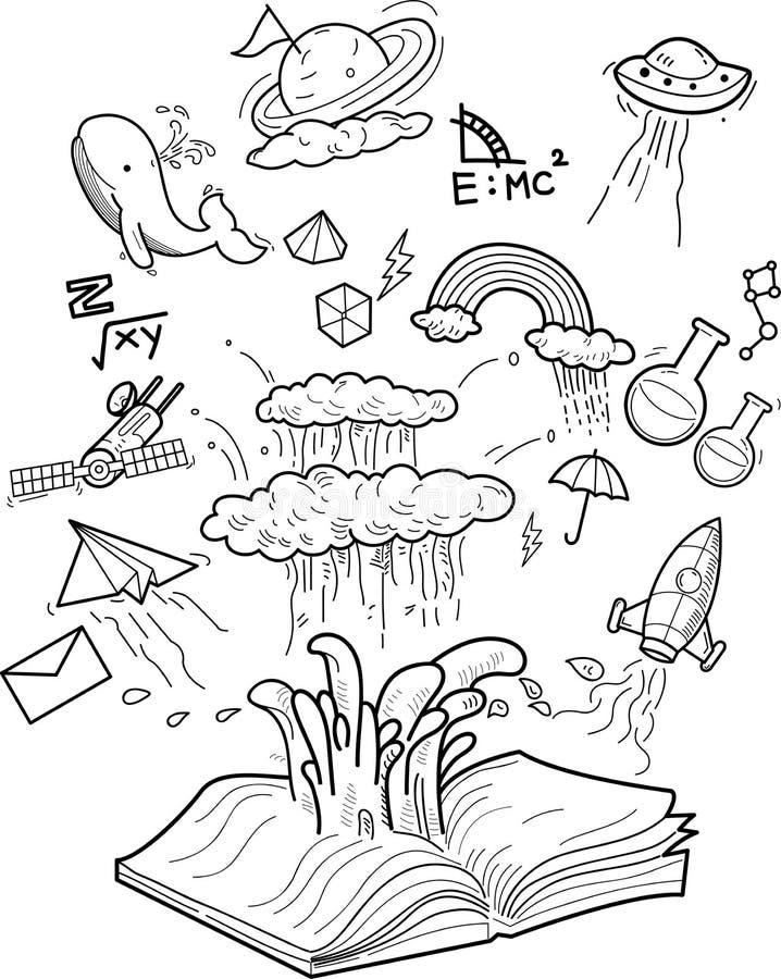 Libro-conocimiento libre illustration