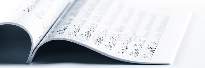 Libro contabile aperto immagini stock
