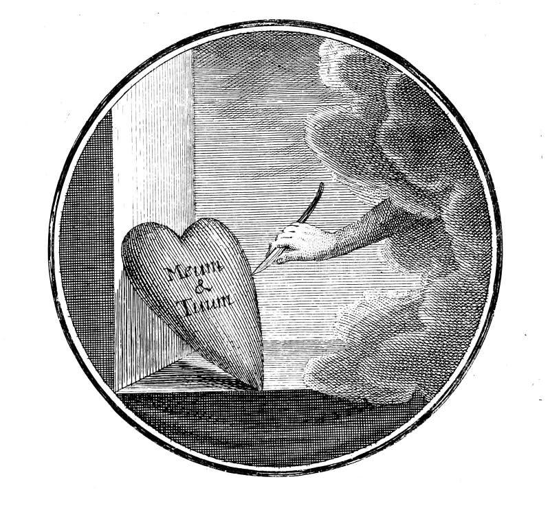 Libro cristiano Vieja imagen stock de ilustración