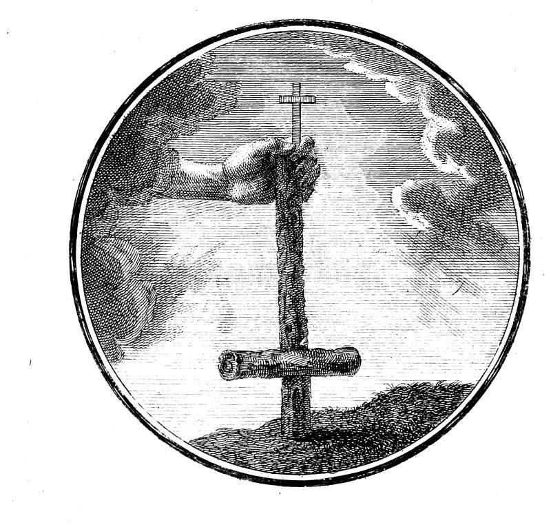 Libro cristiano Vieja imagen ilustración del vector
