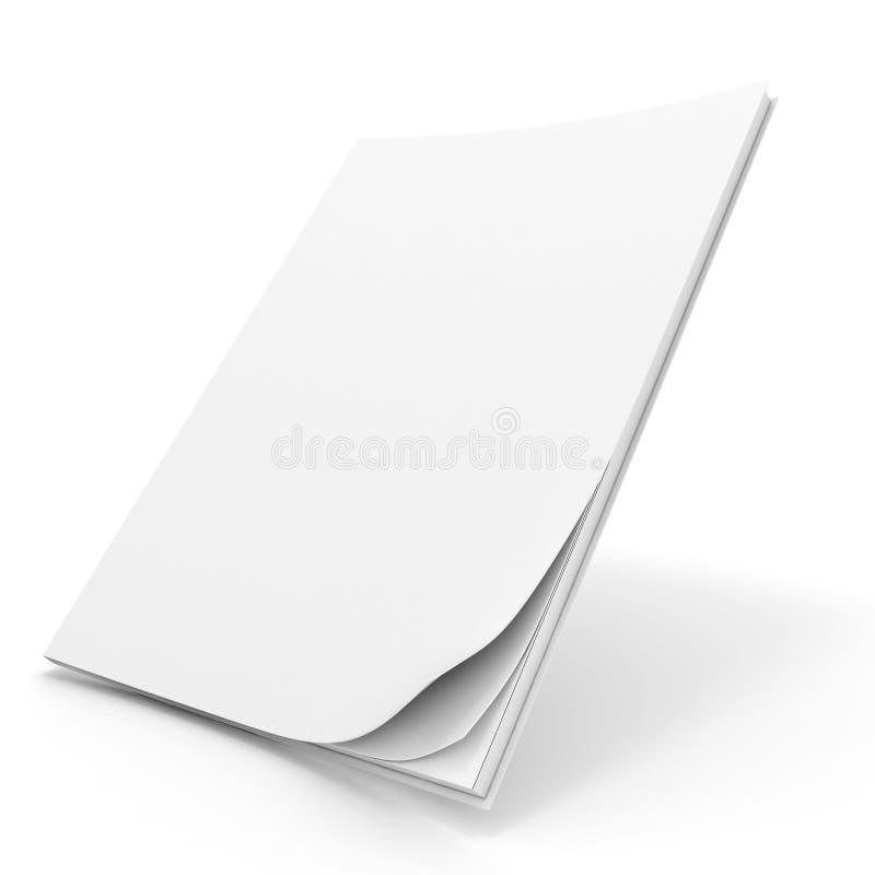 libro 3d con la cubierta en blanco libre illustration