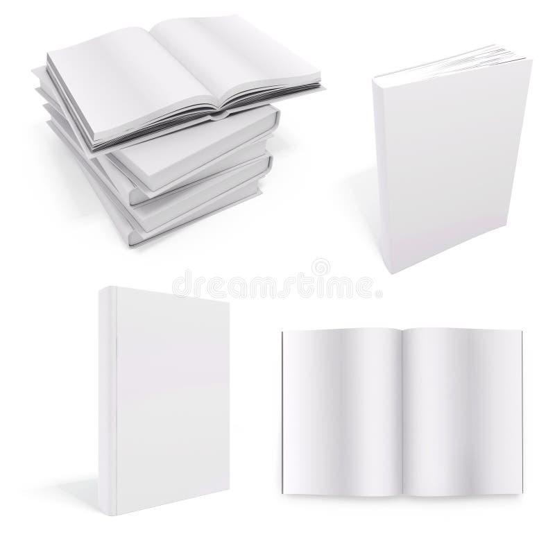 libro 3d con las cubiertas en blanco libre illustration