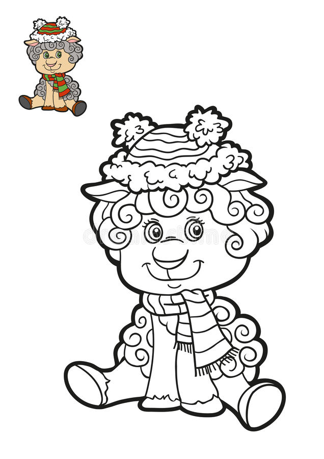 Libro da colorare per i bambini pecore illustrazione di - Pagine da colorare per pecore ...