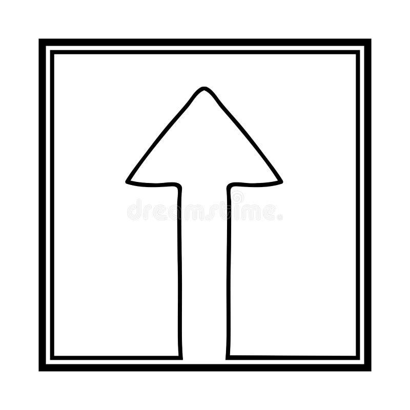 Libro da colorare, segnale stradale illustrazione di stock