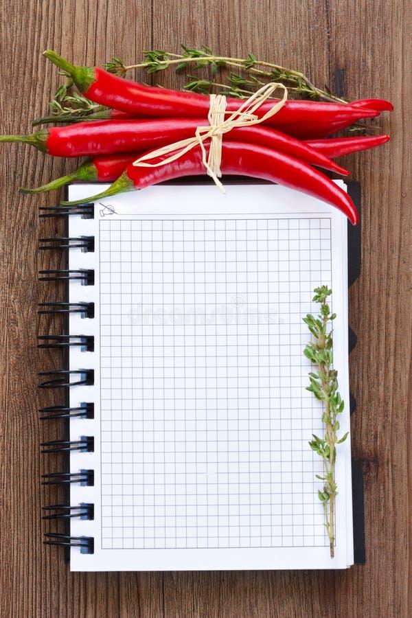 Libro de cocina. imagen de archivo libre de regalías