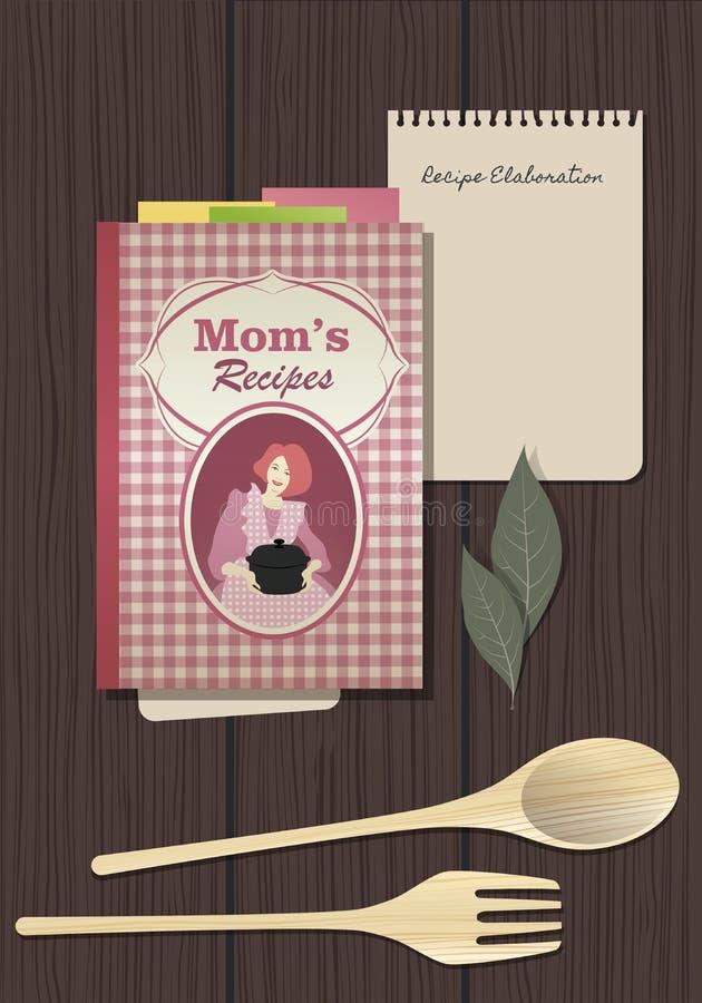 Libro de cocina de las recetas Cocinar el cuaderno libre illustration