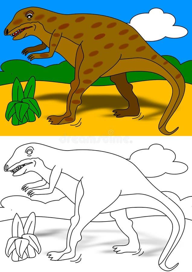 Libro de colorante de Dino libre illustration
