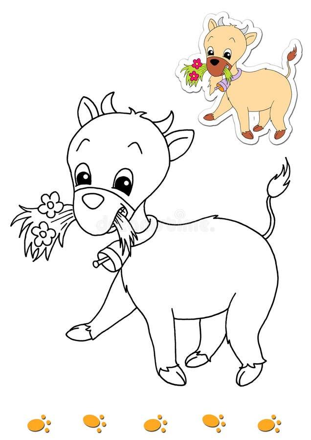 Libro de colorante de los animales 3 - cabra ilustración del vector