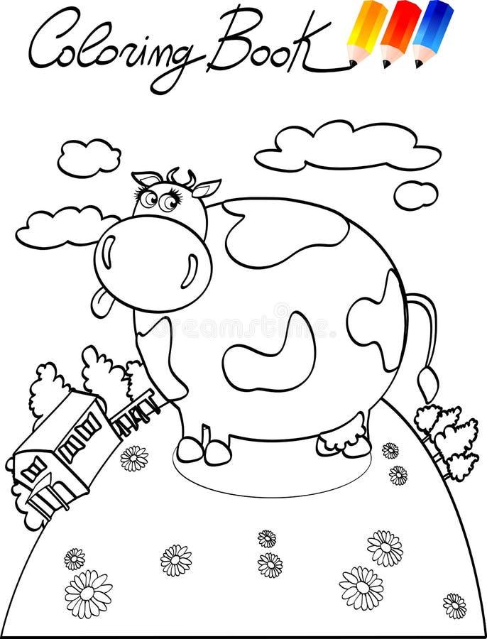 Libro de colorante, granja de la vaca fotografía de archivo libre de regalías