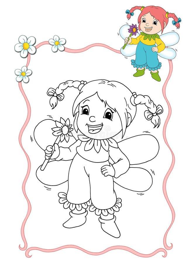 Libro de colorante - hada 8 stock de ilustración