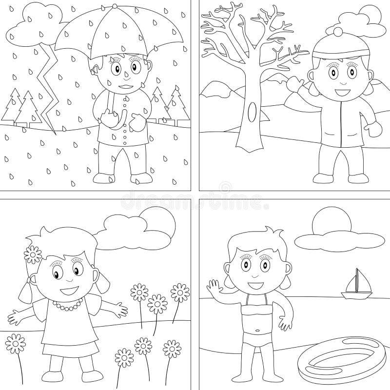 Libro de colorante para los cabritos [28] stock de ilustración