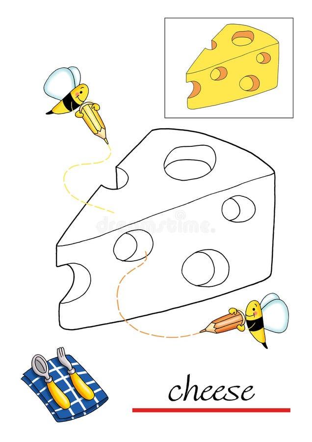 Libro de colorante para los niños 6 ilustración del vector