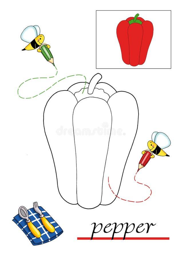 Libro de colorante para los niños 8 stock de ilustración