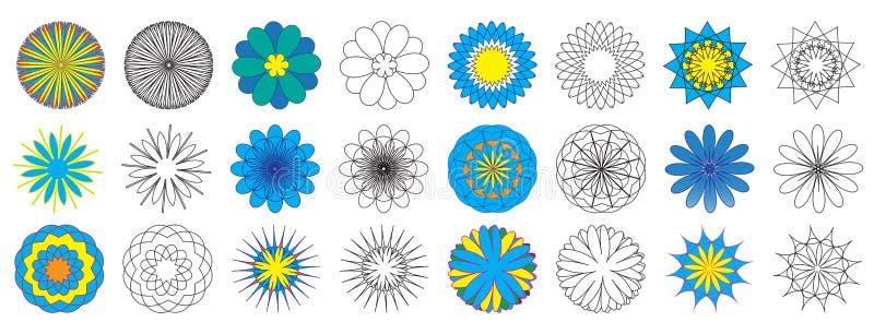 Libro de colorante Spirograph de las flores del garabato Ilustraci?n del vector libre illustration
