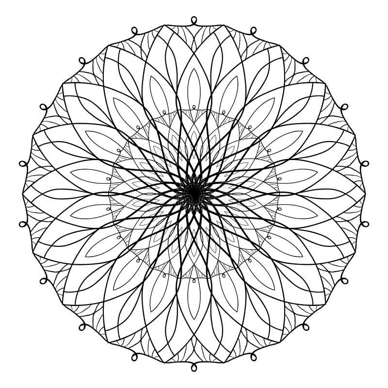 Libro De Colorear Antiesfuerzo Del Vector Con La Mandala Geométrica ...
