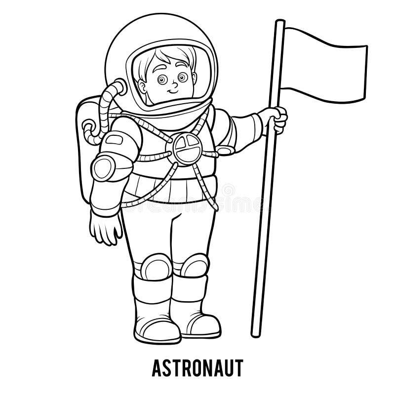 Libro De Colorear, Astronauta Ilustración del Vector - Ilustración ...