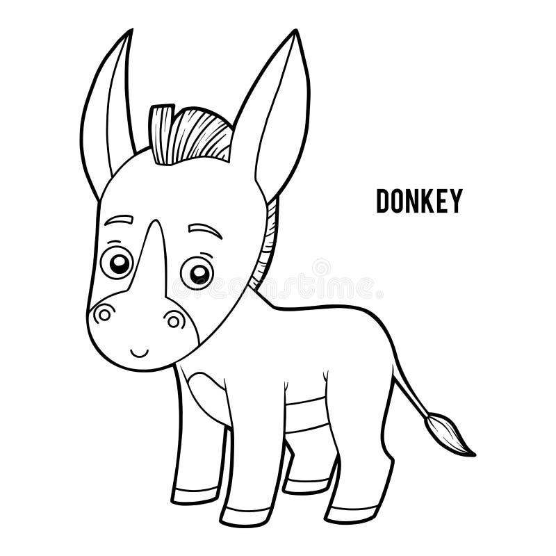 Libro de colorear, burro libre illustration