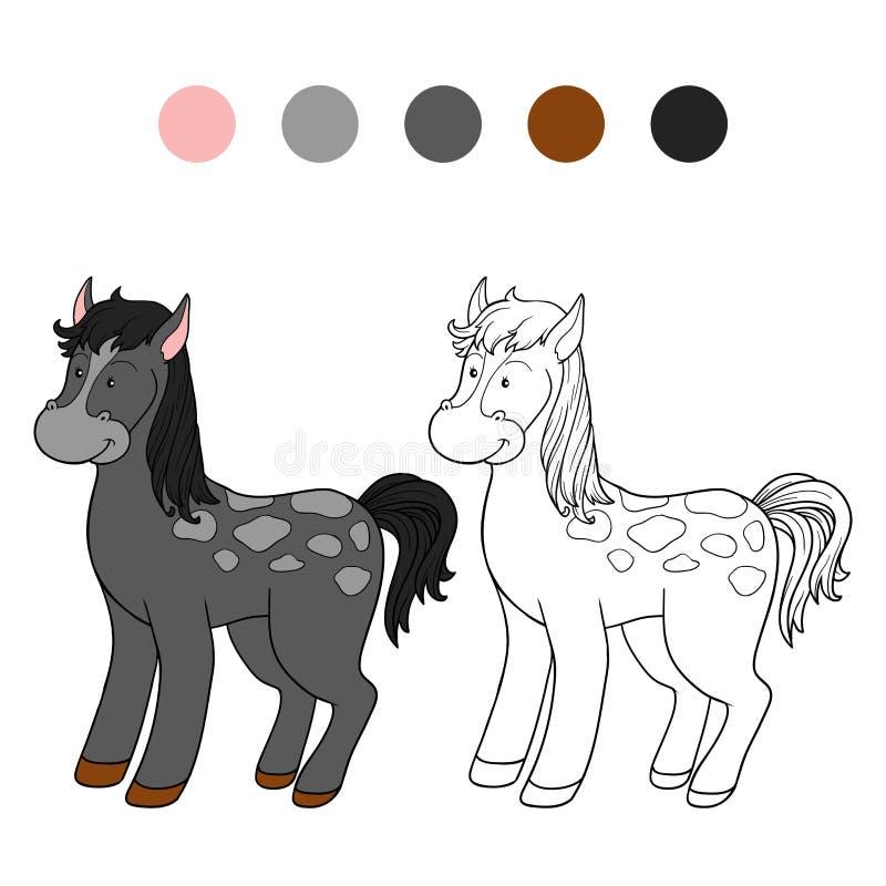 Libro De Colorear (caballo) Stock de ilustración - Ilustración de ...