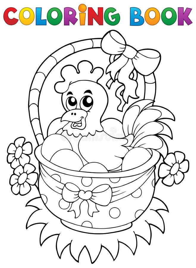 Libro De Colorear Con El Tema 8 De Pascua Ilustración del Vector ...