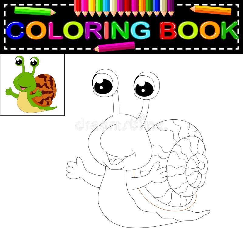 Libro de colorear del caracol ilustración del vector