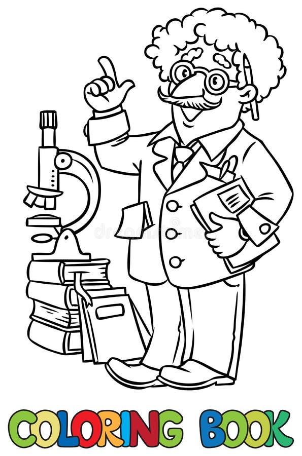 Libro De Colorear Del Científico O Del Inventor Divertido ...