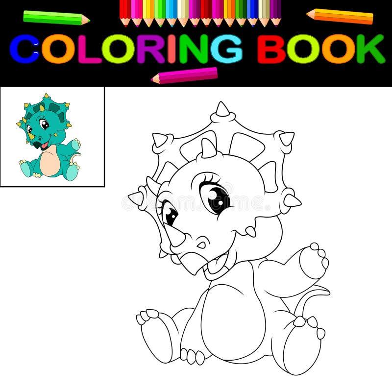 Libro de colorear del dinosaurio ilustración del vector