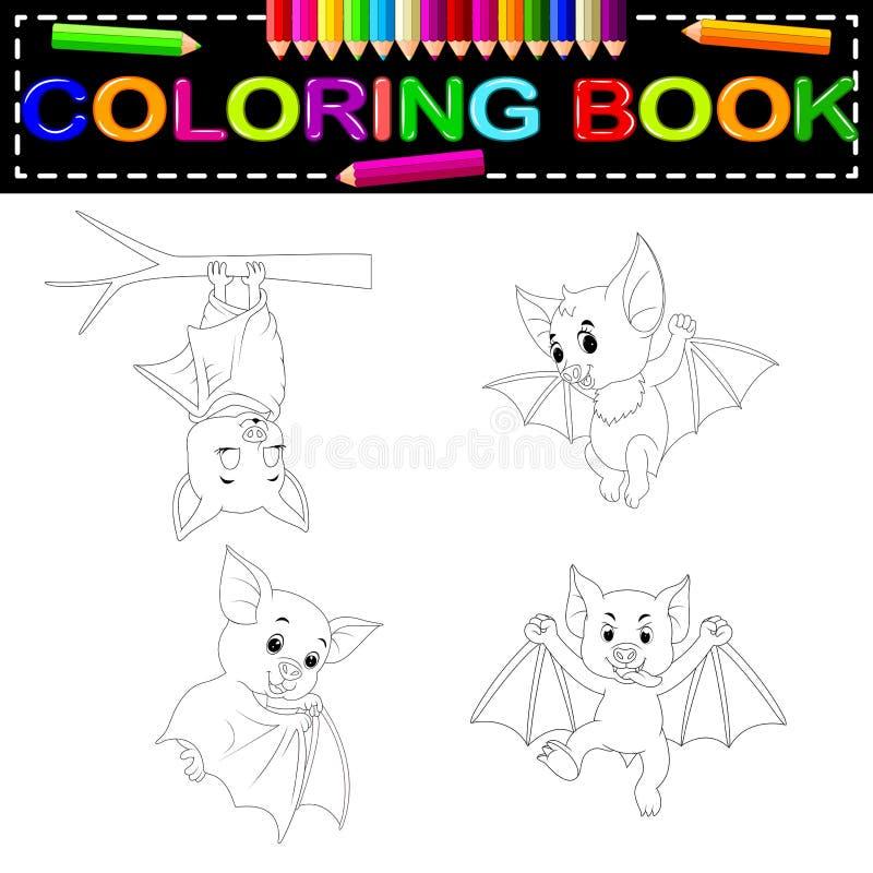 Libro de colorear del palo stock de ilustración