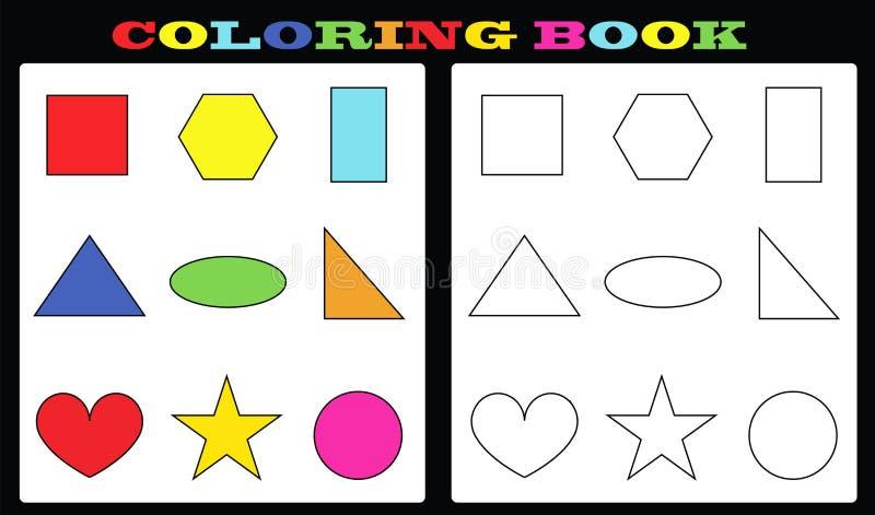 Libro De Colorear - Formas Coloridas Y Formas Vacías Para Pintar ...