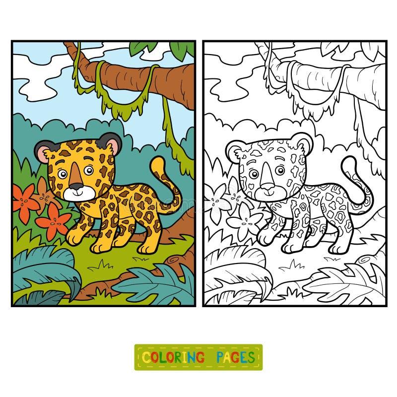 Libro de colorear, Jaguar libre illustration