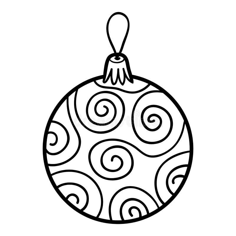 Libro de colorear juguete del rbol de navidad bola for Dibujo bola navidad