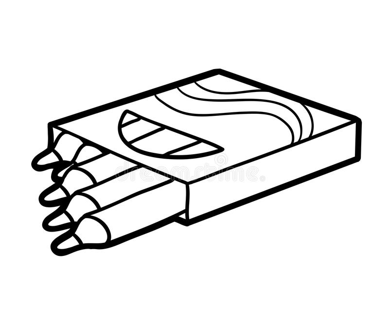 Libro de colorear, lápices del color ilustración del vector