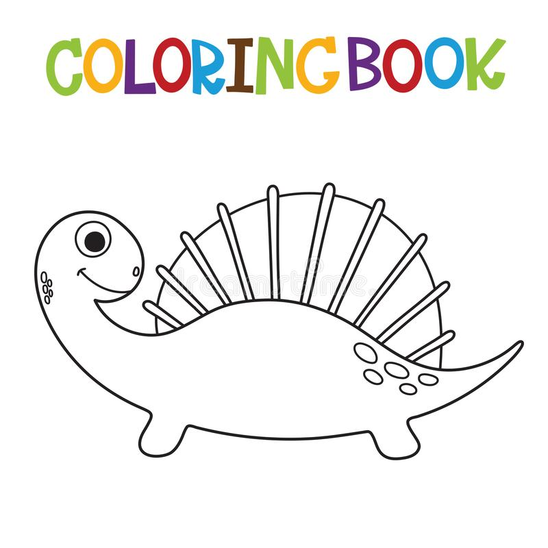 Libro de colorear lindo de Dino libre illustration