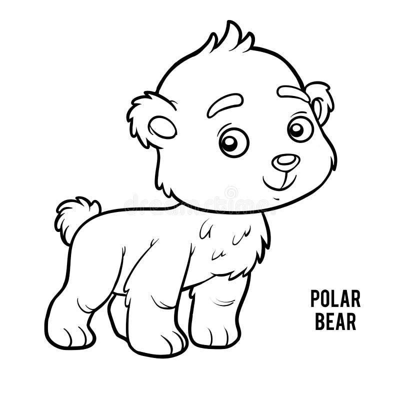 Libro De Colorear, Oso Polar Ilustración del Vector - Ilustración de ...