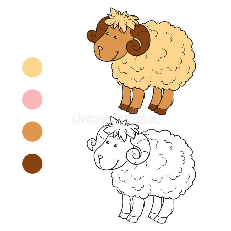 Libro de colorear (ovejas) ilustración del vector. Ilustración de ...