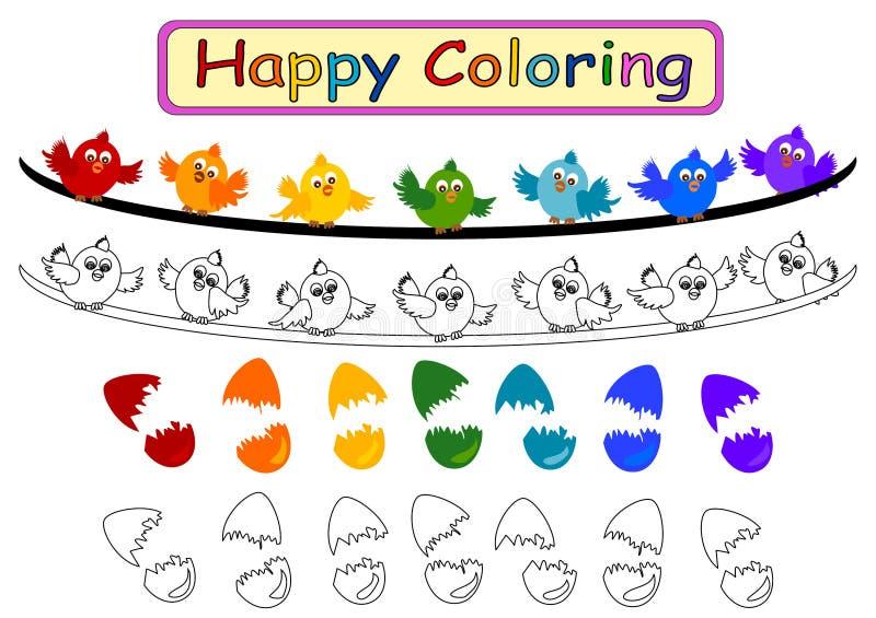 Libro de colorear para los niños ilustración del vector