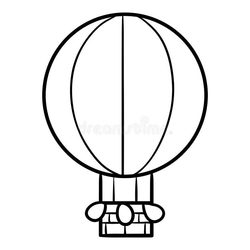 Libro de colorear para los niños, globo stock de ilustración