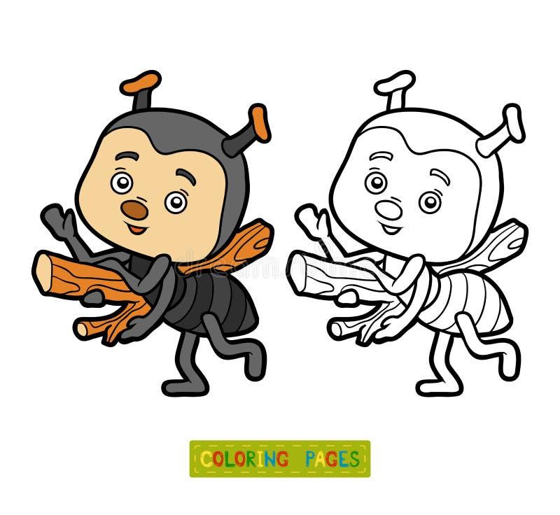 Libro de colorear para los niños, pequeña hormiga libre illustration